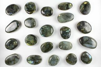 Lot: Polished Labradorite Pebbles - 1 kg (2.2 lbs) For Sale, #90503