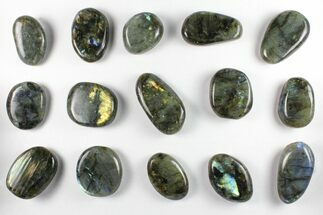 Lot: Polished Labradorite Pebbles - 1 kg (2.2 lbs) For Sale, #90506