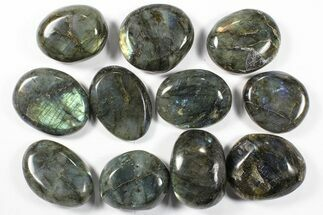 Wholesale Box: Polished Labradorite Pebbles - 1 kg (2.2 lbs) For Sale, #90662