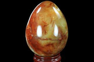 "4.3"" Tall Colorful Carnelian Agate Egg  For Sale, #91526"
