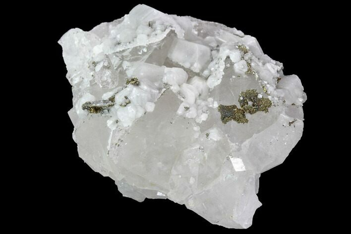 "2.1"" Quartz, Pyrite and Calcite Association - Fluorescent"