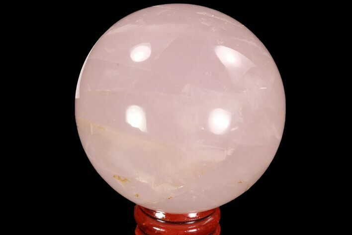 "2.3"" Polished Rose Quartz Sphere - Madagascar"