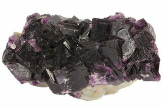 "Buy 3.8"" Dark Purple Cubic Fluorite and Quartz - Excellent Quality - #94321"