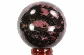 "Buy 2.25"" Polished Rhodonite Sphere - Madagascar - #95038"
