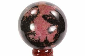 "Beautiful, 2.3"" Rhodonite Sphere - Madagascar For Sale, #95039"
