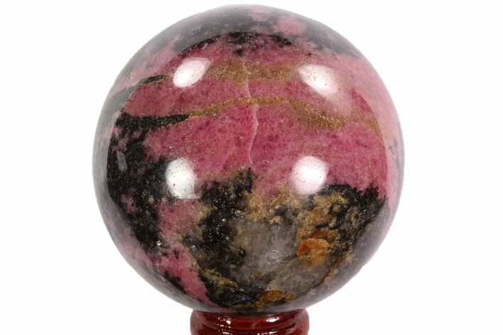 "Beautiful, 2.5"" Rhodonite Sphere - Madagascar"