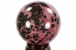"Buy Beautiful, 2.9"" Rhodonite Sphere - Madagascar - #95056"