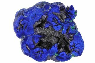 "1.6"" Vivid Blue, Cut/Polished Azurite Nodule - Siberia For Sale, #94562"
