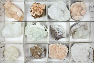 Mixed Indian Mineral & Crystal Flat - 12 Pieces For Sale, #95597