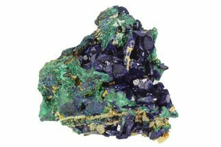 "Buy 2.15"" Large, Sparkling Azurite Crystals With Malachite - Laos - #95803"