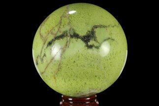 "Buy 3.7"" Polished Green Opal Sphere - Madagascar - #95878"