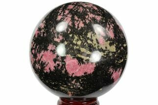 "Buy Beautiful 4.8"" Rhodonite Sphere - Madagascar - #96202"