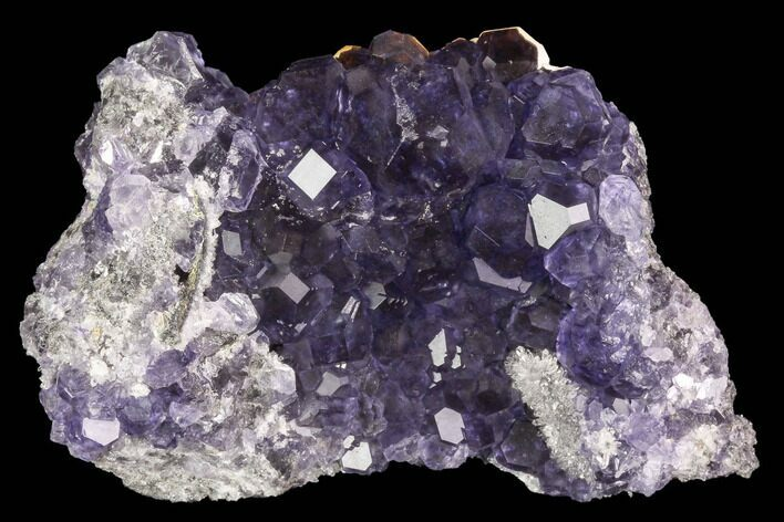 "3.3"" Purple Fluorite Crystals with Quartz - China"