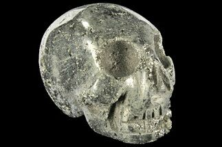 "Buy 2.6"" Polished Pyrite Skull With Pyritohedral Crystals - Peru - #96328"