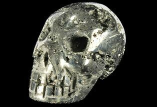 "3.1"" Polished Pyrite Skull With Pyritohedral Crystals - Peru For Sale, #96329"