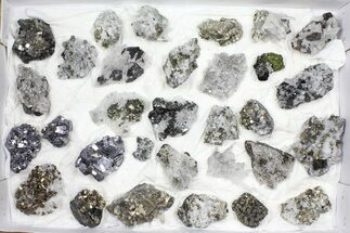 Buy Wholesale Flat - Pyrite, Galena, Quartz, Etc From Peru - 31 Pieces - #97060