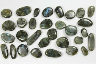 Buy Wholesale Box: Polished Labradorite Pebbles - 1 kg (2.2 lbs) - #90634