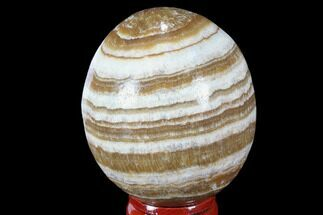 "2.05"" Polished, Banded Aragonite Egg - Morocco For Sale, #98435"