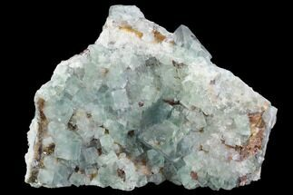 "Buy 4.5"" Blue-Green, Cubic Fluorite Crystal Cluster - Morocco - #99007"