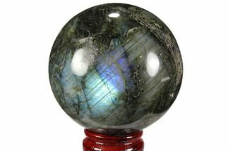 "3.25"" Flashy, Polished Labradorite Sphere - Great Color Play For Sale, #99386"