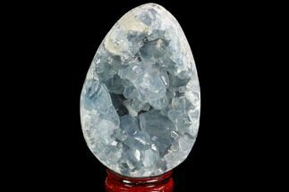 "4.1"" Crystal Filled Celestine (Celestite) ""Egg"" Geode - Madagascar For Sale, #100058"
