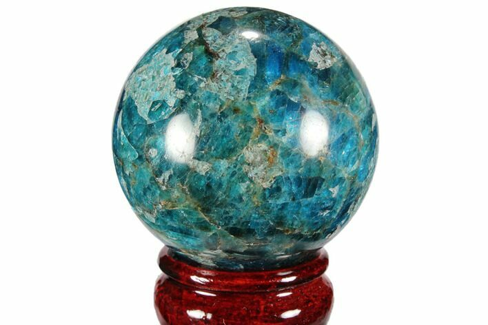 "2.2"" Bright Blue Apatite Sphere - Madagascar"