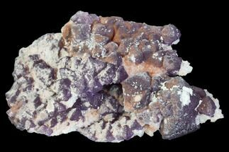 "2"" Purple Fluorite on Quartz Epimorphs - Arizona For Sale, #103544"