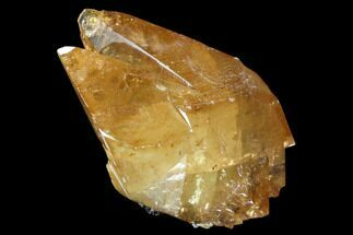"5.2"" Golden, Twinned Calcite Crystals With Sphalerite - Elmwood Mine For Sale, #103943"