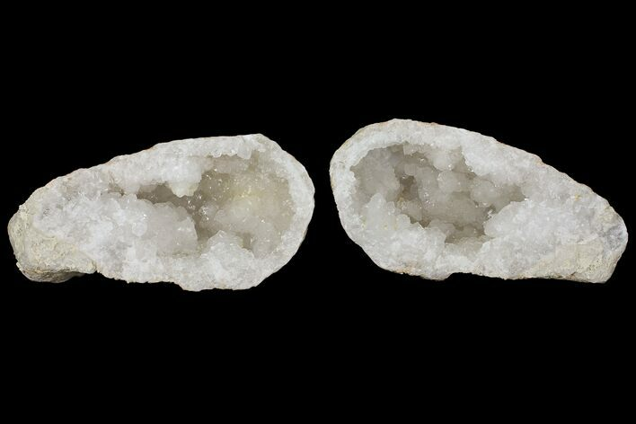 "Large 7.4"" Quartz Geode - Morocco - Both Halves"