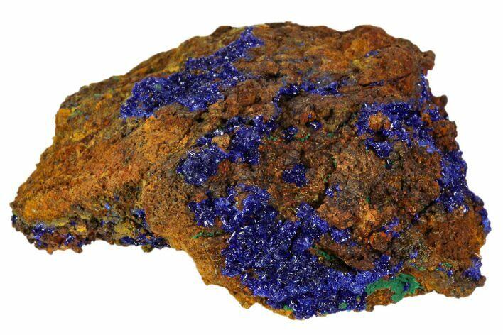 "2"" Sparkling Azurite and Malachite Crystal Cluster - Morocco"