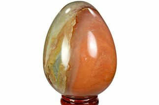 "2.9"" Polished Polychrome Jasper Egg - Madagascar For Sale, #104666"