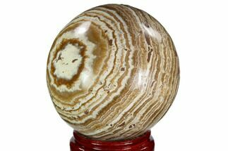 "Buy 4.75"" Polished, Banded Aragonite Sphere - Morocco - #105622"