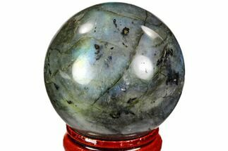 "Buy 1.6"" Flashy, Polished Labradorite Sphere - Great Color Play - #105742"