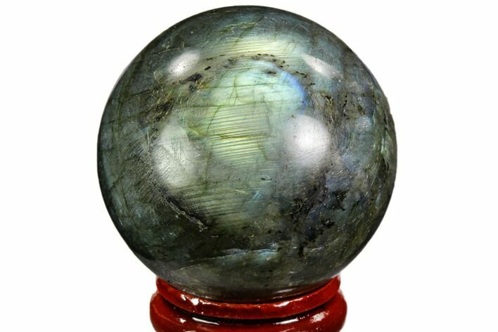 "1.7"" Flashy, Polished Labradorite Sphere - Great Color Play"