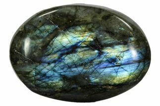 "3.4"" Flashy, Polished Labradorite Pebble - Madagascar For Sale, #105914"