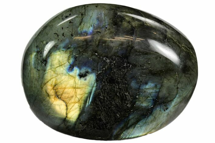 "3.5"" Flashy, Polished Labradorite Pebble - Madagascar"