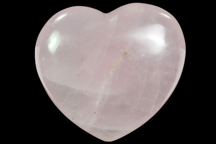 "3.4"" Polished Rose Quartz Heart - Madagascar"