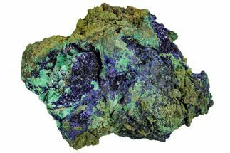 "Buy 3"" Sparkling Azurite Crystals With Malachite - Laos - #107194"
