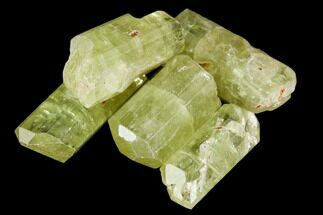 "Bag Of Five Yellow Apatite Crystals (.5"" - 1"") - Morocco For Sale, #108365"