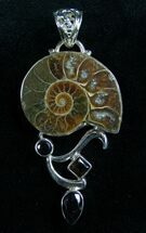 Buy Sterling Silver Ammonite Pendant  - #7069