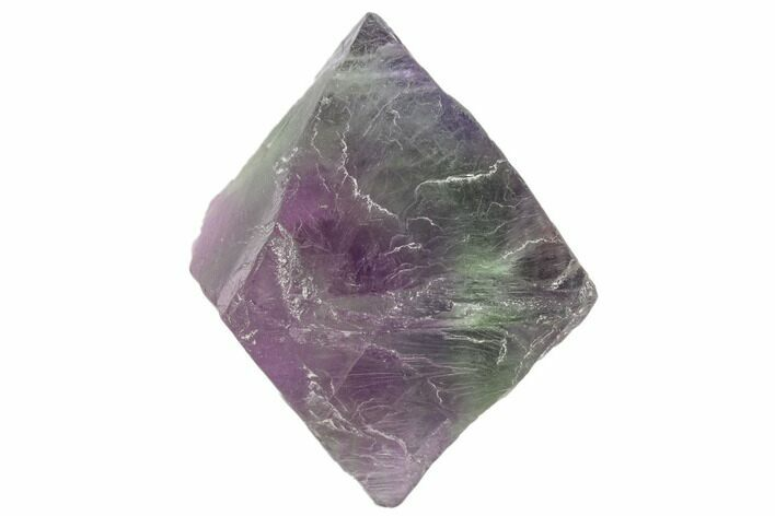 "2"" Purple/Green Banded Fluorite Octahedron - China"