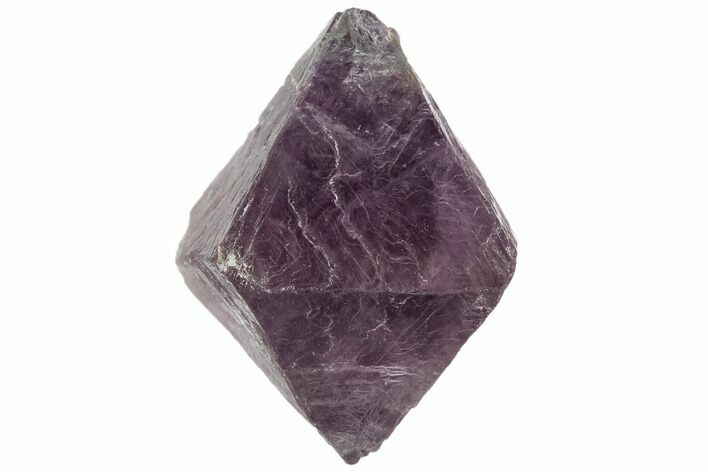 "2.2"" Purple/Green Banded Fluorite Octahedron - China"