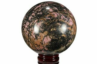 "Buy 4.9"" Polished Rhodonite Sphere - Madagascar - #111064"