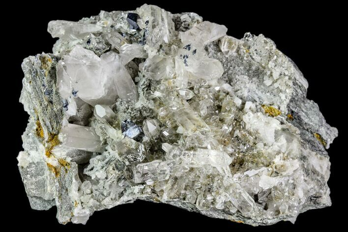 "2.7"" Anatase Crystals, Quartz and Adularia Association - Norway"
