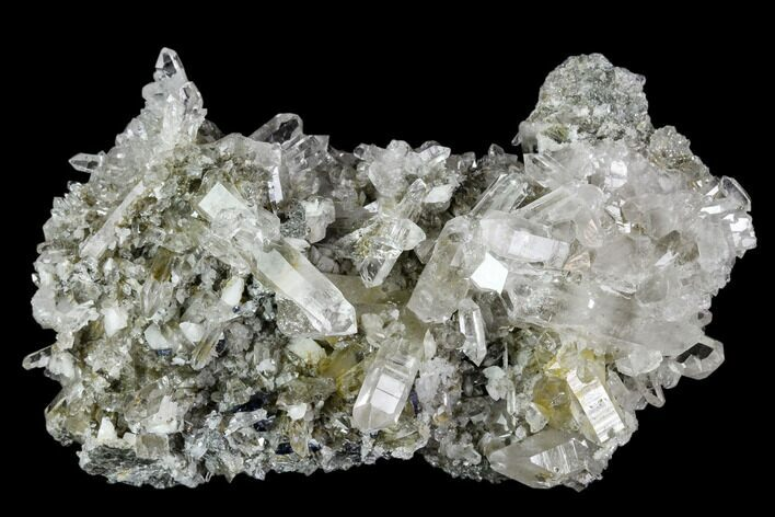 "3.6"" Anatase Crystals, Quartz and Adularia Association - Norway"