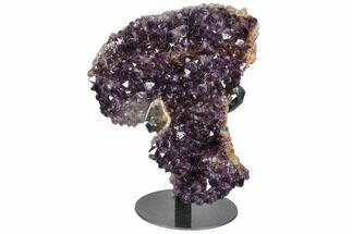 "10.2"" Amethyst Cluster on Metal Stand - Uruguay For Sale, #111554"