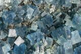 "3.4"" Blue Cubic Fluorite on Quartz - China - #111907-2"