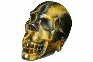 "Buy 2.5"" Polished Tiger's Eye Skull - Crystal Skull - #111820"