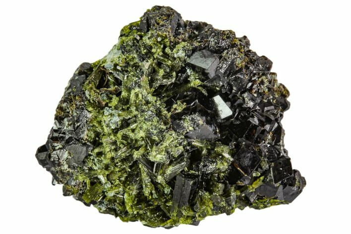 "1.1"" Epidote and Garnet Crystal Cluster - Pakistan"