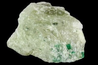 Beryl var. Emerald & Calcite - Fossils For Sale - #112059
